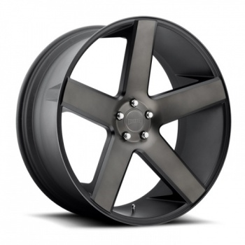 BALLER – BLACK MACHINED WITH DARK TINT CLEAR (22×8.5″ – 5-114 +38)
