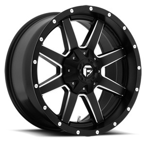 MAVERICK – MATTE BLACK MILLED SPOKE EDGE (22×9.5″ – 5-139 +25)