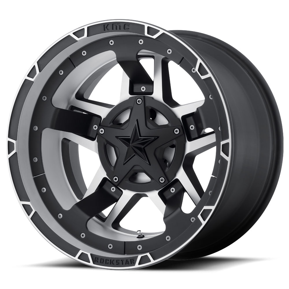 ROCKSTAR 3 RS3 XD827 – BLACK MACHINED (20×9″ – 6-114 +18)
