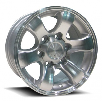 130 – SILVER MACHINED (17×7.5″ – 6-139 +30)