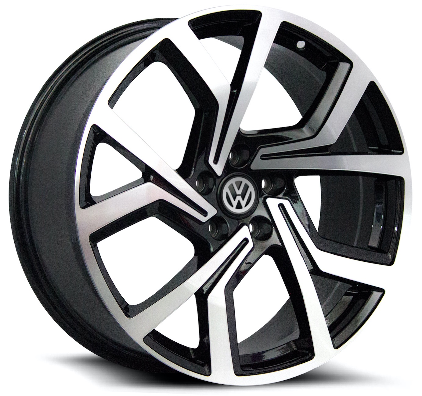 5573 | GTI CLUBSPORT – BLACK POLISH FACE (17×7.5″ – 5-112 +45)