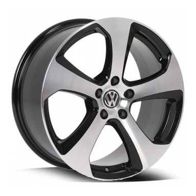 5459 GTI 14 – BLACK MACHINED FACE (15×7″ – 5-112 +45)