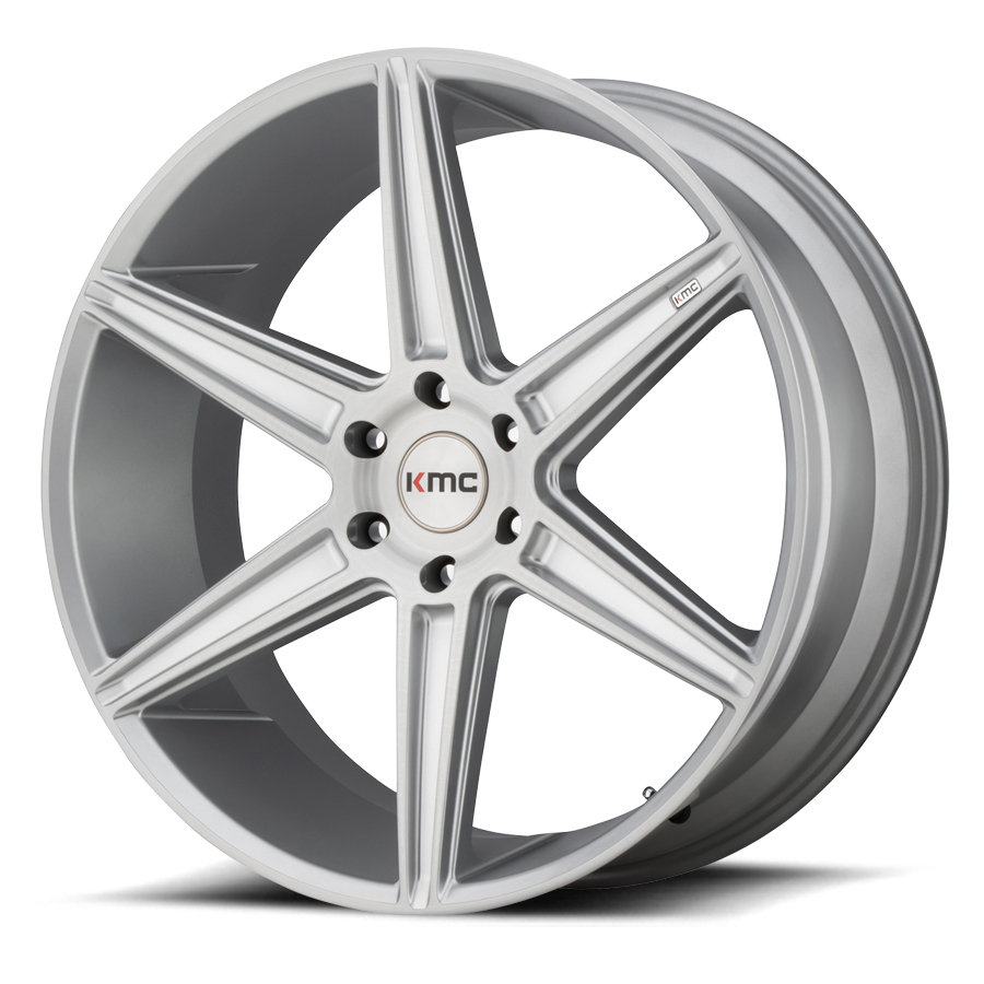 KM712 | PRISM TRUCK – SILVER BRUSH FACE (20×9″ – 5-127 +30)
